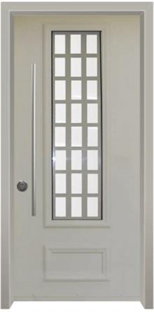 דלת כניסה נפחות שמנת - דלתות אלון