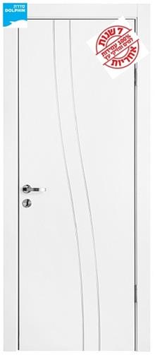 דלת פנים 2 גלים ניקל - דלתות אלון