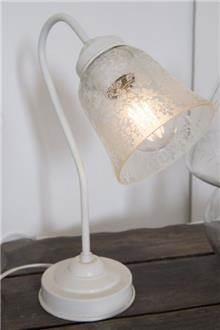 מנורת שולחן מעוטרת