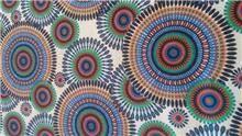 בד קנבס עיגולים צבעוניים