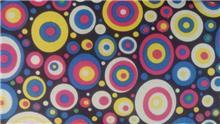 בד קנבס עיגולים צבעוניים קטנים - עיצוב על גלגלים