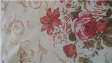 בד סינטטי דוגמת ורדים