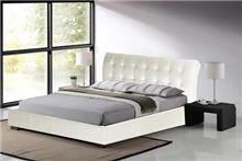 מיטה זוגית לבנה LUCIANO - עודפים - Garox