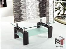 שולחן סלון מזכוכית דגם CUBE