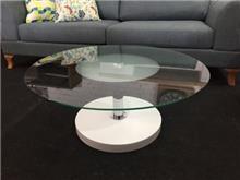 שולחן מזכוכית דגם FENDI white