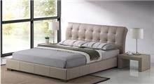 מיטה זוגית מרופדת דגם LUCIANO מוקה