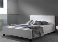 מיטה זוגית מעור אמיתי דגם BLANCO