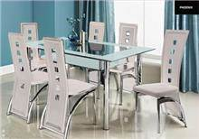 פינת אוכל+6 כסאות LORETO white