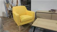 כורסא צהובה - בית אלי - אולם תצוגה לרהיטים