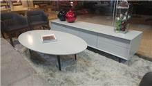 סט מזנון ושולחן סלון בטון