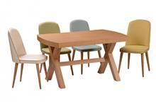שולחן ברגמו + 4 כסאות  - בית אלי - אולם תצוגה לרהיטים