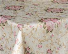 מפת שולחן שמנת פרחים