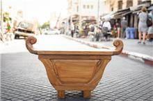 ספסל עץ טיק
