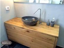 ארון אמבטיה כפרי מעץ