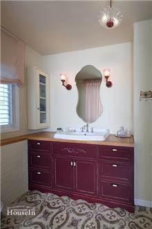 ארון אמבטיה סגול חציל