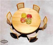 שולחן אוכל עגול מעוצב - HouseIn