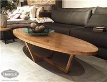 שולחן קפה אליפטי