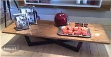 שולחן סלון רגלי קרוס