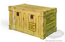 ארגז עץ מלבן צהוב