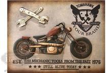 תמונת מתכת תלת מימד אופנוע