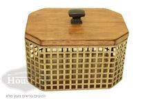 קופסת רשת מלבנית מוזהבת - HouseIn