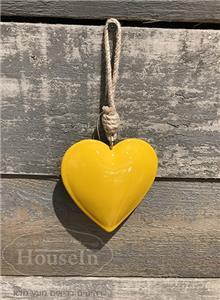 קישוט לב בצבע צהוב לתלייה