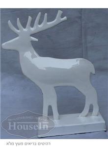 פסלון צבי לבן ממתכת