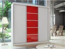 ארון הזזה סן רמו אדום - Best Bait Design