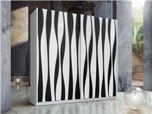 ארון הזזה דגם איריס שחור לבן - Best Bait Design
