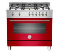 תנור משולב כיריים גז אדום X365MFRO