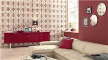 טפט מעוטר אדום - מעודד צבעים