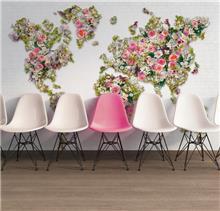 טפט פרחים - מעודד צבעים