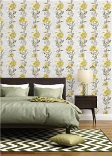 טפט פרחים צהוב