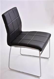 כסא מרופד אריק שחור - מסובין