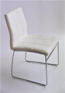 כסא מרופד אריק לבן