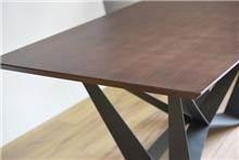 שולחן דגם שוהם - חום כהה