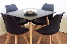 שולחן דגם אדווה שחור