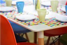 שולחן דגם עמוס - לבן