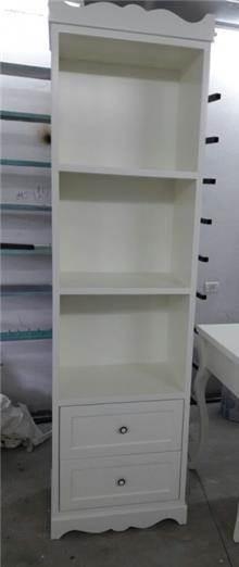 ארון ספרים צר - רהיטי אלון