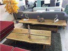סט מזנון ושולחן סלון רוסטיק