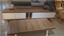 סט שולחן סלון ומזנון מעוצב