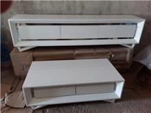 סט מזנון ושולחן סלון לבן