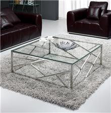 שולחן סלון נירוסטה טריגר מרובע - Besto