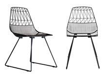 כיסא מתכת קורים שחור