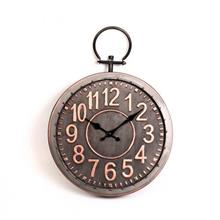 שעון קיר עגול נחושת זכוכית X2172A