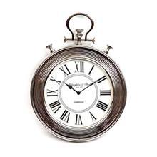 שעון קיר עגול ניקל פסים X2190A