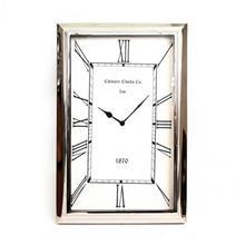 שעון קיר מלבן ניקל X2188A