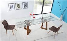 שולחן אוכל זכוכית - דייזי דיזיין