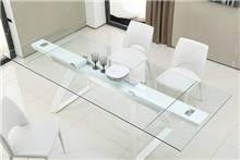שולחן אוכל מזכוכית - דייזי דיזיין
