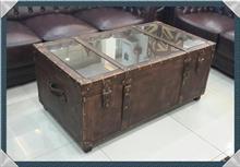 שולחן סלון ארגז וינטאג'